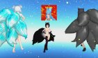 MMD Katt+Luna+Sylvie+Neko Luka+ Roxie {On the Catwalk} R18