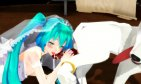 [MMD-R18]miku suck the dog dick