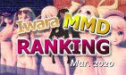 【Iwara MMDランキング - 2020年3月号】【Iwara.tv MikuMikuDance Ranking  - Mar. 2020】