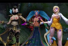 MMD _ League Of Legends - Topless (body paint)
