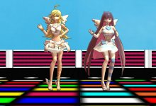 (MMD R-18) Kiss Me! Bang Bang Panty and Stocking in Heaven's Disco (and Hell's Strip Club!)