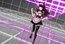 【MMD】 Blake Belladonna Maid Pink Cat