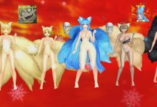 MMD Ran+Ai+Blue+Browny+Black Rock Ninetails {My Demons} R18