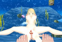 Kizuna Futa AI then Futa Lisa fucking Agato under the Ocean {Dick Almighty+Sex Shooter} R18