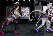 [Ray-MMD R18] Shake It Off - Chocola and Vanilla (model DL)
