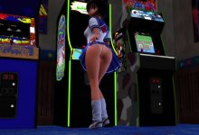 Brunette Izumi - No Panty Day At The Arcade