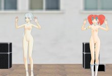 RWBY Leave in the Summer - Weiss and Neon Bare It All